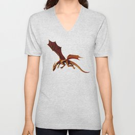Dragon Attack Unisex V-Neck