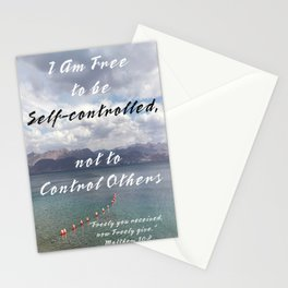 Be Self Controlled Stationery Cards