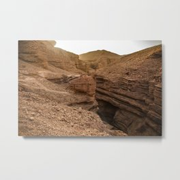 Red Canyon, Eilat, Israel Metal Print