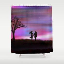 Monday Dawning Shower Curtain