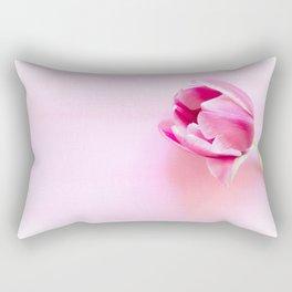 One tulip closeup studio shot Rectangular Pillow