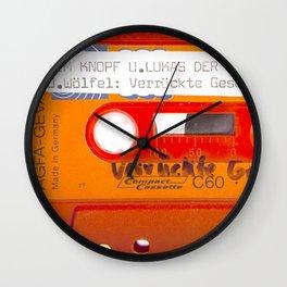 Orange Cassette Tape 70s Germany Agfa Photography Wall Clock