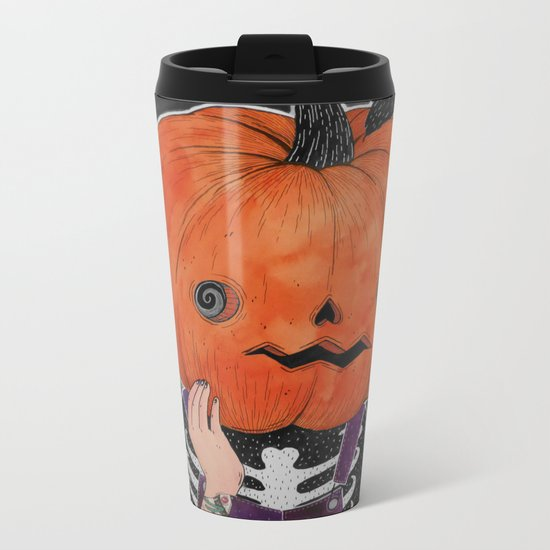 GOSH! I'M A PUMPKIN! Metal Travel Mug
