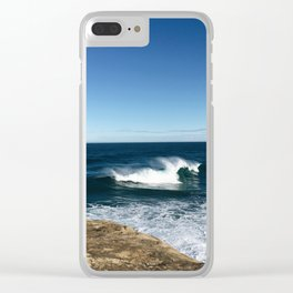 New Zealand Beach Wave Clear iPhone Case