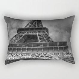 Black And White Eiffel Tower Rectangular Pillow