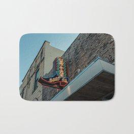 Boot Shop Neon Sign Bath Mat