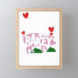 Farmer Gift Wakey Wakey Eggs and Bakey Farm Life Farming Gift Framed Mini Art Print