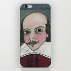 Much Ado About Shakespeare, Illustrated Writers Portrait iPhone & iPod Skin