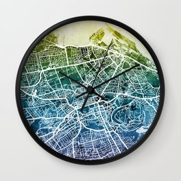 Edinburgh Scotland Street Map Wall Clock