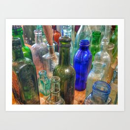 Glass Bottles (2) Art Print