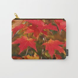 Fiery Autumn Maple Leaves 4966 Carry-All Pouch