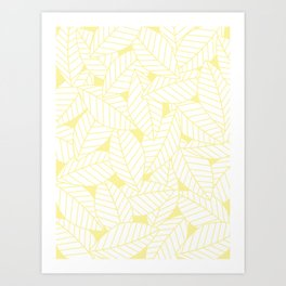 Leaves in Daisy Art Print