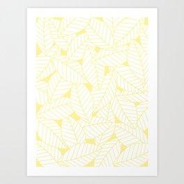 Leaves in Daisy Art Print