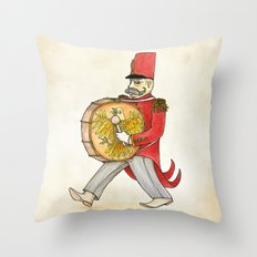López, bass drum Throw Pillow