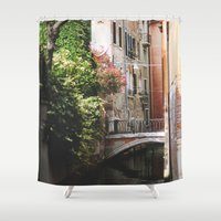 venice Shower Curtains featuring Venice by Anya Kubilus