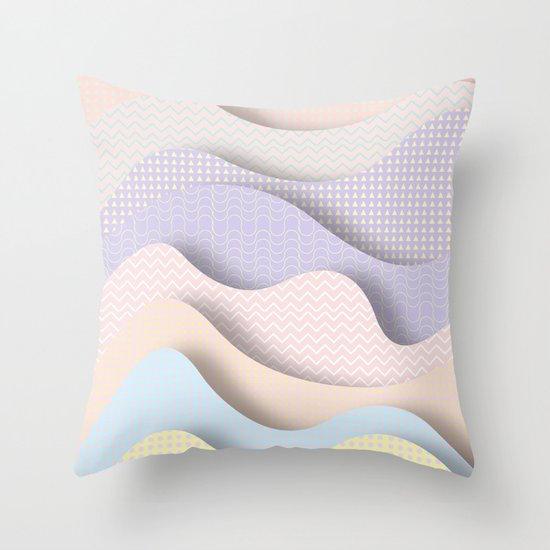 Wave I Throw Pillow