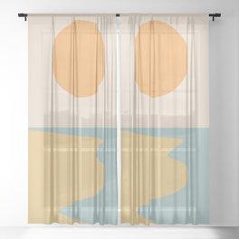 Ocean Sunset / Sunrise II Sheer Curtain