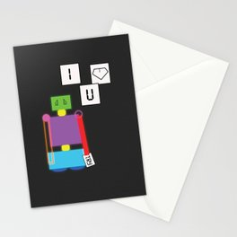 Robot in Love Stationery Cards