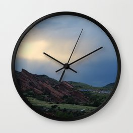 Red Rocks at Dusk Wall Clock