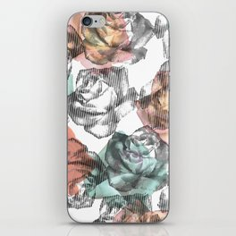 Etched Rose iPhone Skin
