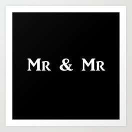 Mr & Mr Monogram bold Art Print