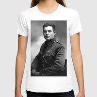 hemingway T-shirts featuring Ernest Hemingway in Uniform, 1918 by Limitless Design