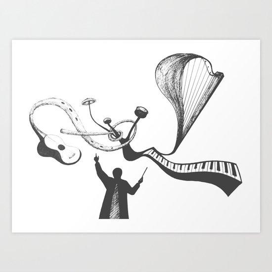 Concerto Art Print