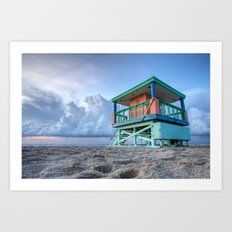 Miami LifeGuard Tower 3 Art Print