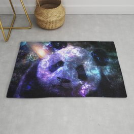 Galaxy Panda Planet Colorful Rug