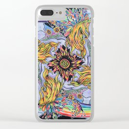 Unicorn Splash Clear iPhone Case