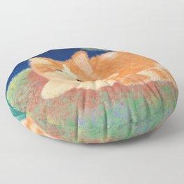 Moonlight Orange Cat Floor Pillow