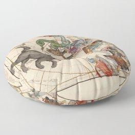 Ignace-Gaston Pardies - Globi coelestis Plate 1: Ursa Major, Ursa Minor, Perseus, and others Floor Pillow