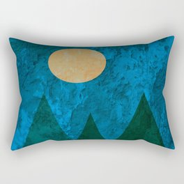 Ancestral, Abstract Landscape Mountains Rectangular Pillow