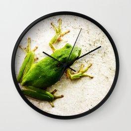 Tree Frog Wall Clock