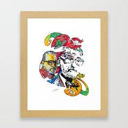 Homage to Theodor Seuss Geisel Framed Art Print