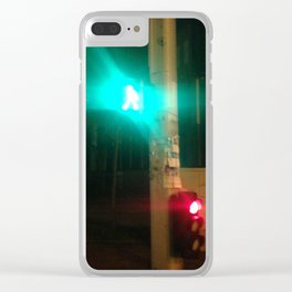 Urban color splash Paris Clear iPhone Case