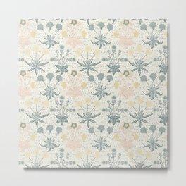 Vintage Floral & Plants Pattern Metal Print