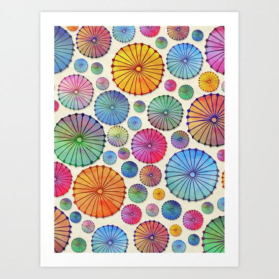 Coctail Umbrellas - Summer Memories Art Print