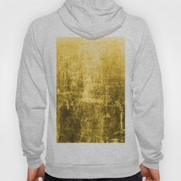 SunYellowTextured & Distressed Design Hoody
