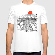 the Roads MEDIUM Mens Fitted Tee White