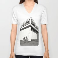tool V-neck T-shirts featuring Tool Town by Vorona Photography