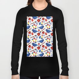 Birds in Primary Long Sleeve T-shirt