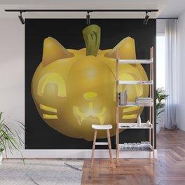 Cat Jack O Lantern Wall Mural