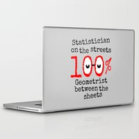 math Laptop & iPad Skins featuring Math Geek by mailboxdisco