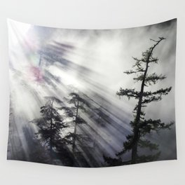 Misty Morning Sunrise Wall Tapestry