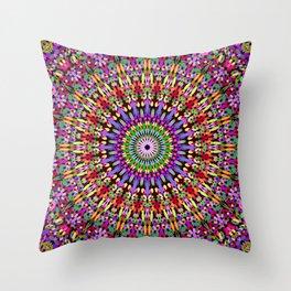 Petal Burst Mandala Throw Pillow