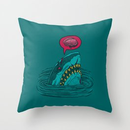 The Zombie Shark Throw Pillow