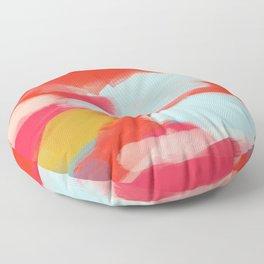 Summer In Abstract Floor Pillow