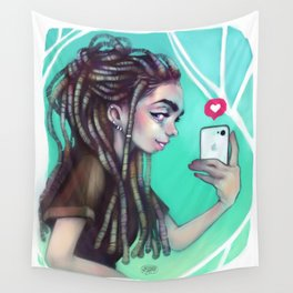 Selfie Girl Wall Tapestry
