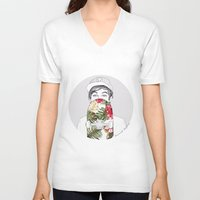 coconutwishes V-neck T-shirts featuring L Skate by Coconut Wishes